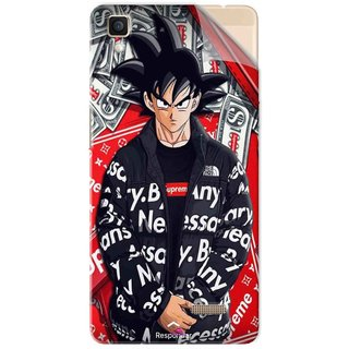 Snooky Printed supreme goku Pvc Vinyl Mobile Skin Sticker For Oppo R7