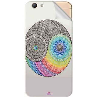 Snooky Printed Traditional Yin Yang Pvc Vinyl Mobile Skin Sticker For Oppo F1s