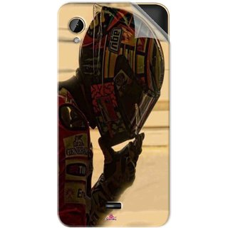 Snooky Printed valentino rossi racing Pvc Vinyl Mobile Skin Sticker For Intex Cloud 4G Smart