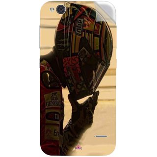 Snooky Printed valentino rossi racing Pvc Vinyl Mobile Skin Sticker For LYF Water 2