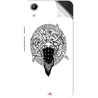 Snooky Printed Varsace Naqab Pvc Vinyl Mobile Skin Sticker For Micromax Canvas Selfie Lens Q345