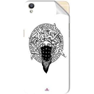 Snooky Printed Varsace Naqab Pvc Vinyl Mobile Skin Sticker For Oppo F1 Plus