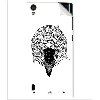Snooky Printed Varsace Naqab Pvc Vinyl Mobile Skin Sticker For Vivo Y15
