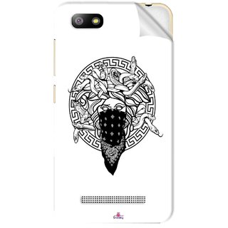 Snooky Printed Varsace Naqab Pvc Vinyl Mobile Skin Sticker For Lava Flair P3