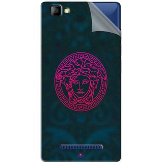 Snooky Printed Versace Pvc Vinyl Mobile Skin Sticker For LYF Flame 8