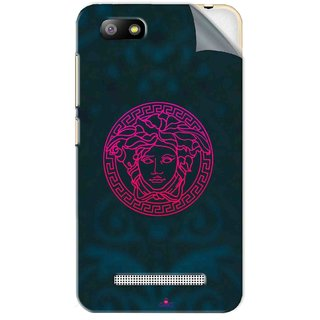 Snooky Printed Versace Pvc Vinyl Mobile Skin Sticker For Lava Flair P3