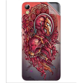 Snooky Printed Vintage Iron Man Pvc Vinyl Mobile Skin Sticker For Tecno i3