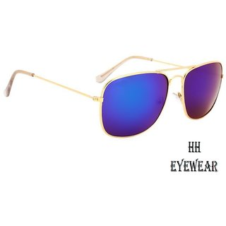 09a7203a8b0 Buy HH (CNGoldBluMrcy) Unisex Blue Mirrored Sunglasses Online - Get ...