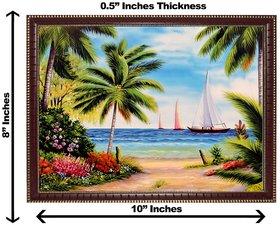 3d vastu sea and tree wall painting( size 08*10)