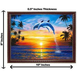 3d vastu beautiful dolphin wall painting( size 08*10)