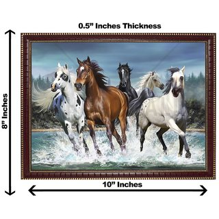 3d vastu  horse water running wall painting( size 08*10)