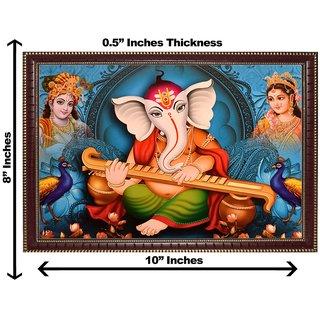 3d ganeshji sitar wall painting( size 08*10)