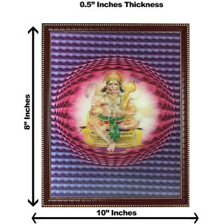3d colourful hanumanji round wall painting( size 08*10)
