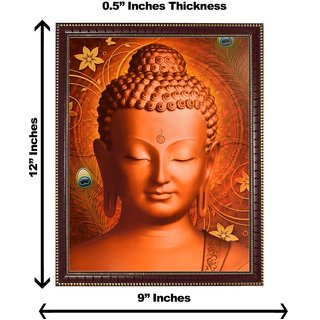 3d colourful buddha wall painting( size 09*12)