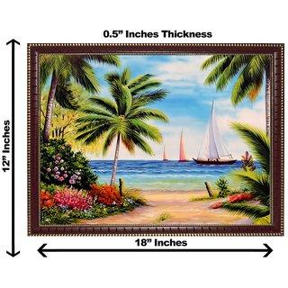 3d vastu sea and tree wall painting( size 12*18)
