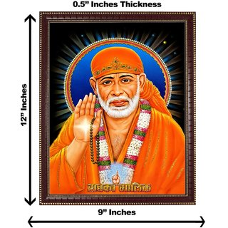 3d colourful sai baba wall painting( size 09*12)