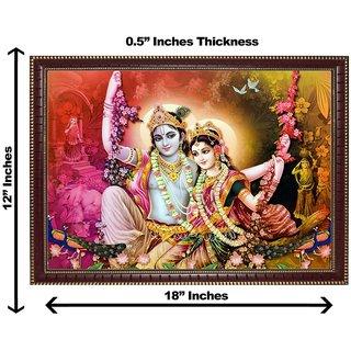 3d krishna radha jhula wall painting( size 12*18)