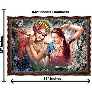3d krishna radha dancing wall painting( size 12*18)