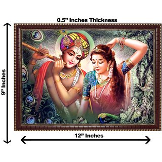 3d krishna radha dancing wall painting( size 09*12)