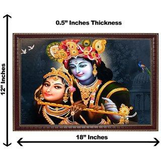 3d krishna radha bansee wall painting( size 12*18)