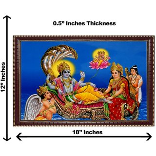 3d vishnuji wall painting( size 12*18)