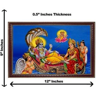 3d vishnuji wall painting( size 09*12)