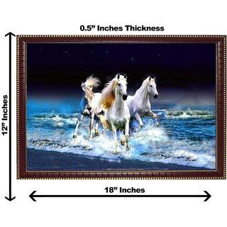3d vastu 3 horse wall painting( size 12*18)