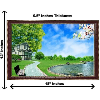 3d vastu sky with water wall painting( size 1218)