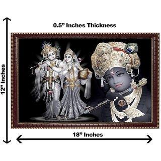3d black krishna radha wall painting( size 12*18)