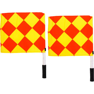 SAS Linesman Flags for Soccer Football Set of 2 Durable and Water proof - Standard size Linesman Flags