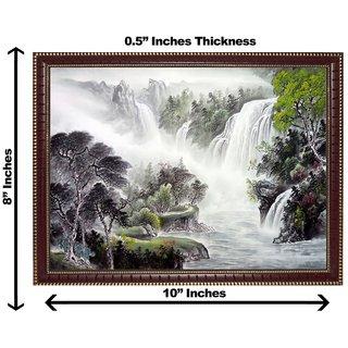3d vastu water falling tree wall painting( size 0810)