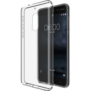 NOKIA 8 Transparent Flexible Back Case Ultra Thin Crystal Clear Cover
