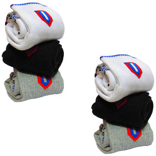 Set of 6 pairs Sports ankle length cotton socks