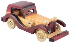 BuzyKart Wooden Classical Vintage Roof Car Jeep Toy