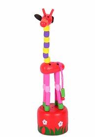 BuzyKart Classic Beautiful Wooden Toy Giraffe