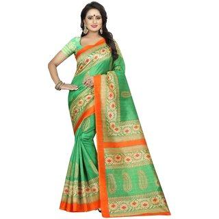 SAMPURNA GREEN  (BHAGALPURI SAREES) NEW BOLLYWOOD-INDIAN-DESIGNER-PARTY-WEAR-ETHNIC Peria-Apparel
