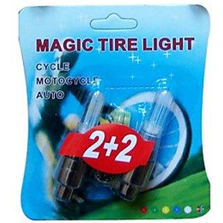 New MAGIC Flashing Flash Wheel Lights For All Bikes Cars Set of 2