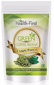 Health First Green Coffee Beans Decaffeinated  Unroasted Arabica Beans For Weight Loss Contains Chlorogenic Acid (200 g