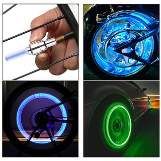 AutoSun Flashing Flash Wheel Lights For Bikes (Blue)