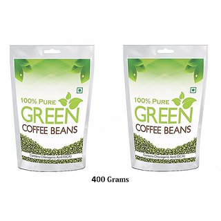 Health First Pure Organic Arabica Green Coffee Beans For Weight Management - 400Gm