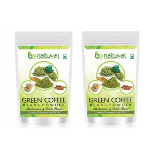 Be Natural Organic Green Coffee Beans Flavored Powder For Weight Management - 200 Gram