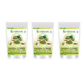 Be Natural Organic Green Coffee Beans Flavored Powder For Weight Management - 300 Gram