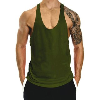 bfd7d9e85bdfe2 Buy The Blazze Men s Blank Stringer Y Back Bodybuilding Gym Tank ...