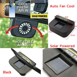 NP NAVEEN PLASTIC Solar Car Fan Powered Ventilation Exhaust Fan for Car Window- Keeps car Cool while Parked- No battery