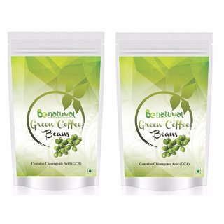 Pure Organic Green Coffee Beans by Be natural , Decaffeinated  Unroasted Arabica Coffee beans Weight Management 400 gm