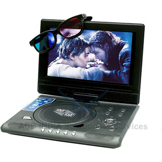 ABB 9.8 - 3D PORTABLE DVD PLAYER + FREE 3D MOVIE CD