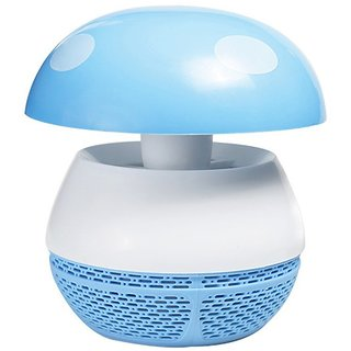 Photocatalyst Mushroom Mosquito Killer Physical Mosquito Report, Light Blue (Assorted Colors)
