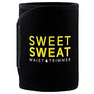 Men And Women Waist Trimmer Fat Burner Belly Tummy Yoga Wrap Black Exercise Body Slim Look Sweat Slim Belt Free Size