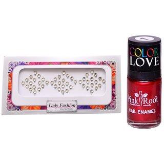 Pink Root Nail Polish No. 01 (15ml) Lady Fashion No. 06 Stone Bindi
