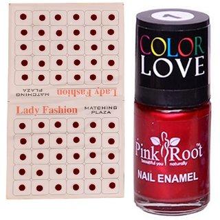 Pink Root Nail Polish No. 01 (15ml) Lady Fashion No. 12 Maroon Bindi